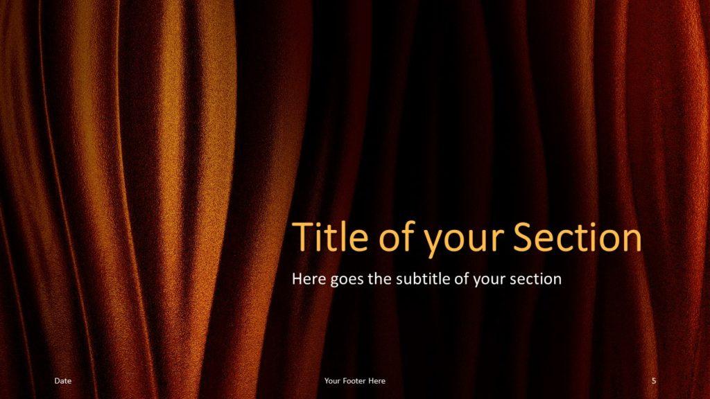 Free Golden Waves Template for Google Slides – Section Slide (Variant 2)