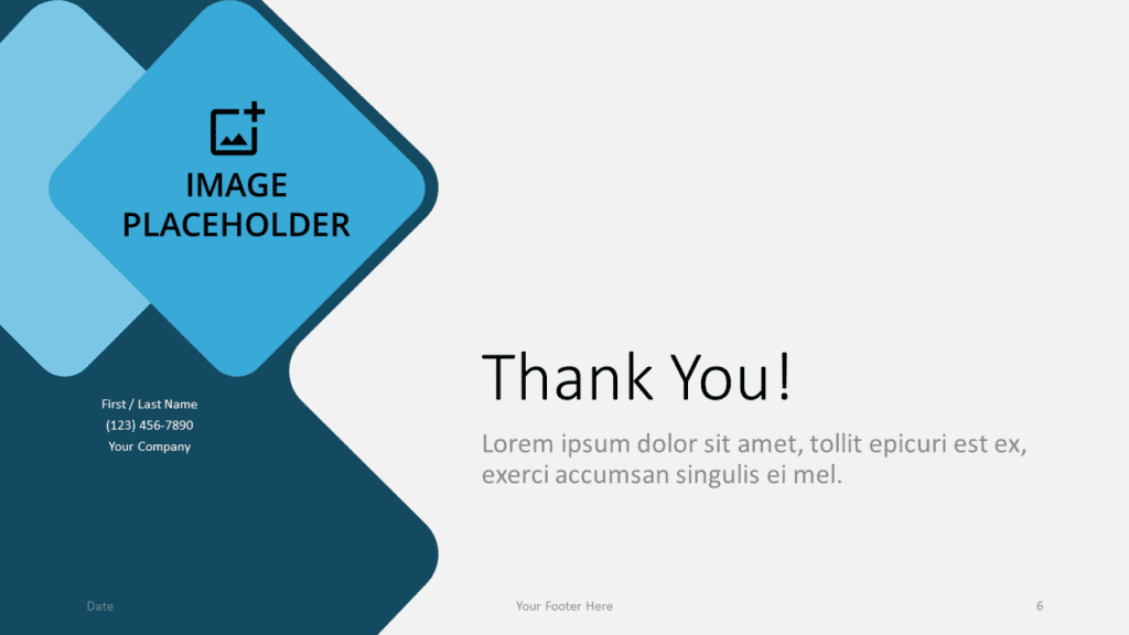 Free Abstract Rounded Template for Google Slides - Closing / Thank you
