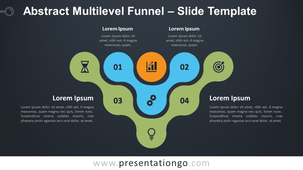 Free Abstract Multilevel Funnel Diagram for PowerPoint and Google Slides