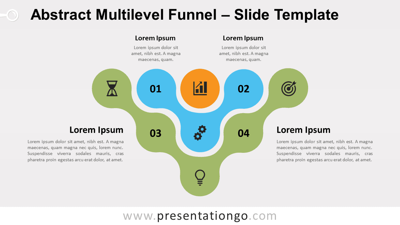 Free Abstract Multilevel Funnel for PowerPoint and Google Slides