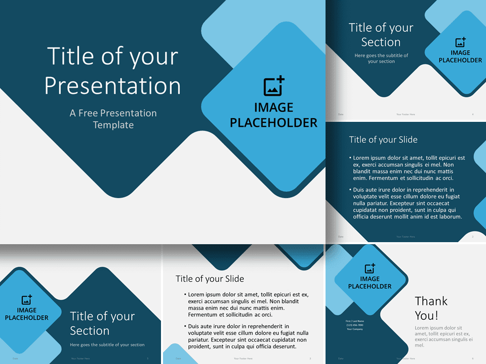 Free Abstract Rounded Template for PowerPoint and Google Slides