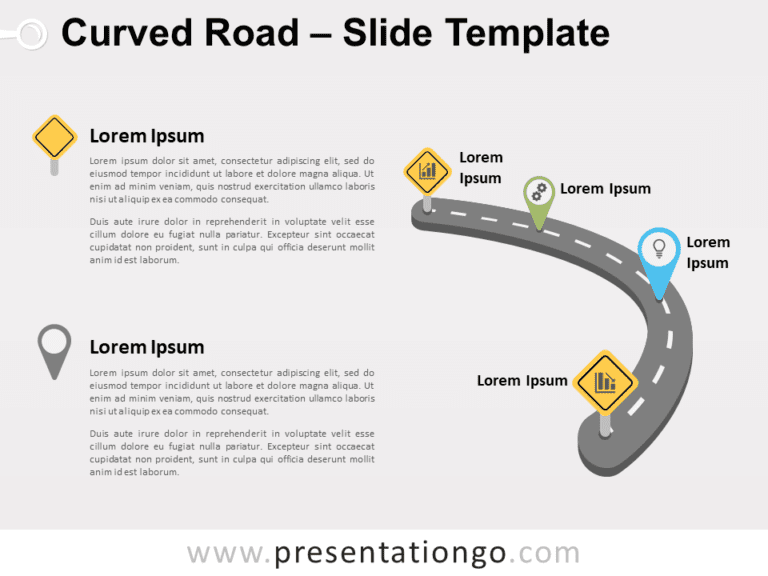 Free Curved Road for PowerPoint
