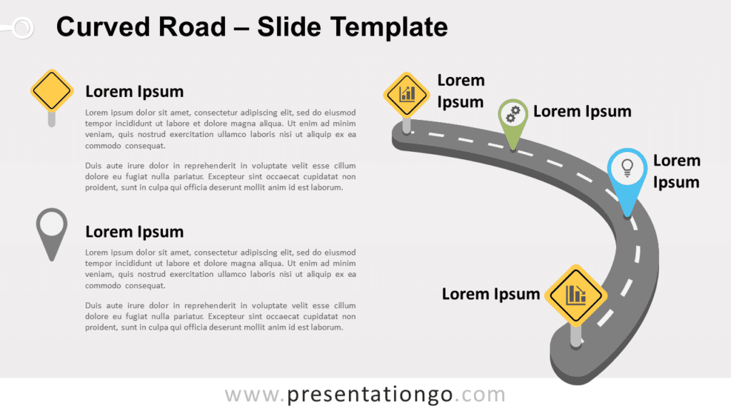 Free Curved Road for PowerPoint and Google Slides