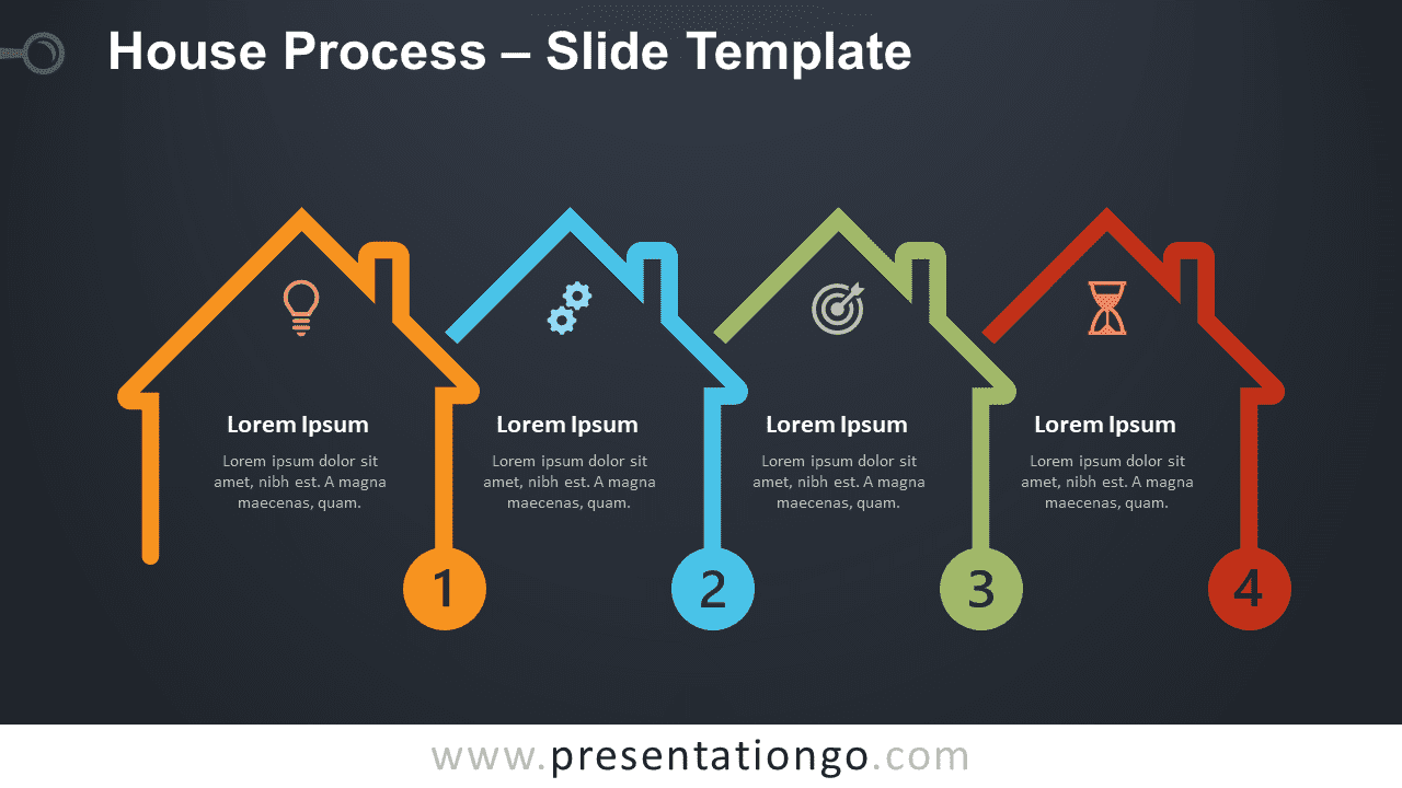 Free House Process Graphics for PowerPoint and Google Slides