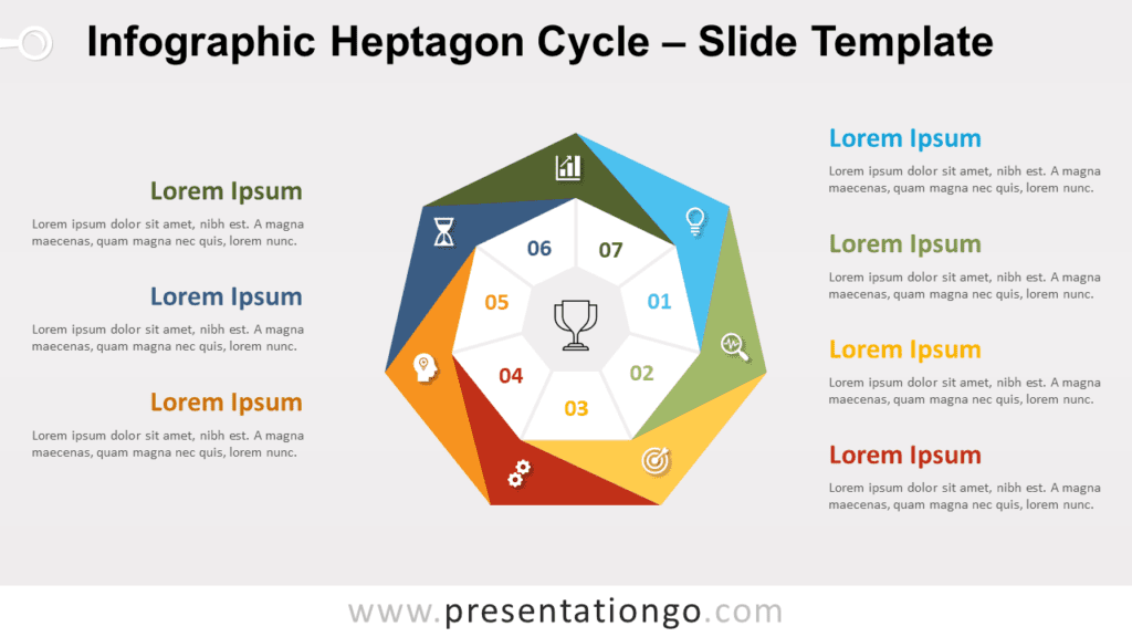 Free Infographic Heptagon Cycle for PowerPoint and Google Slides