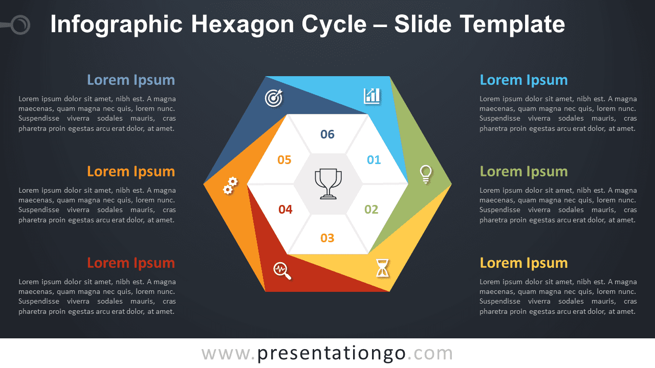 Free Infographic Hexagon Cycle Diagram for PowerPoint and Google Slides