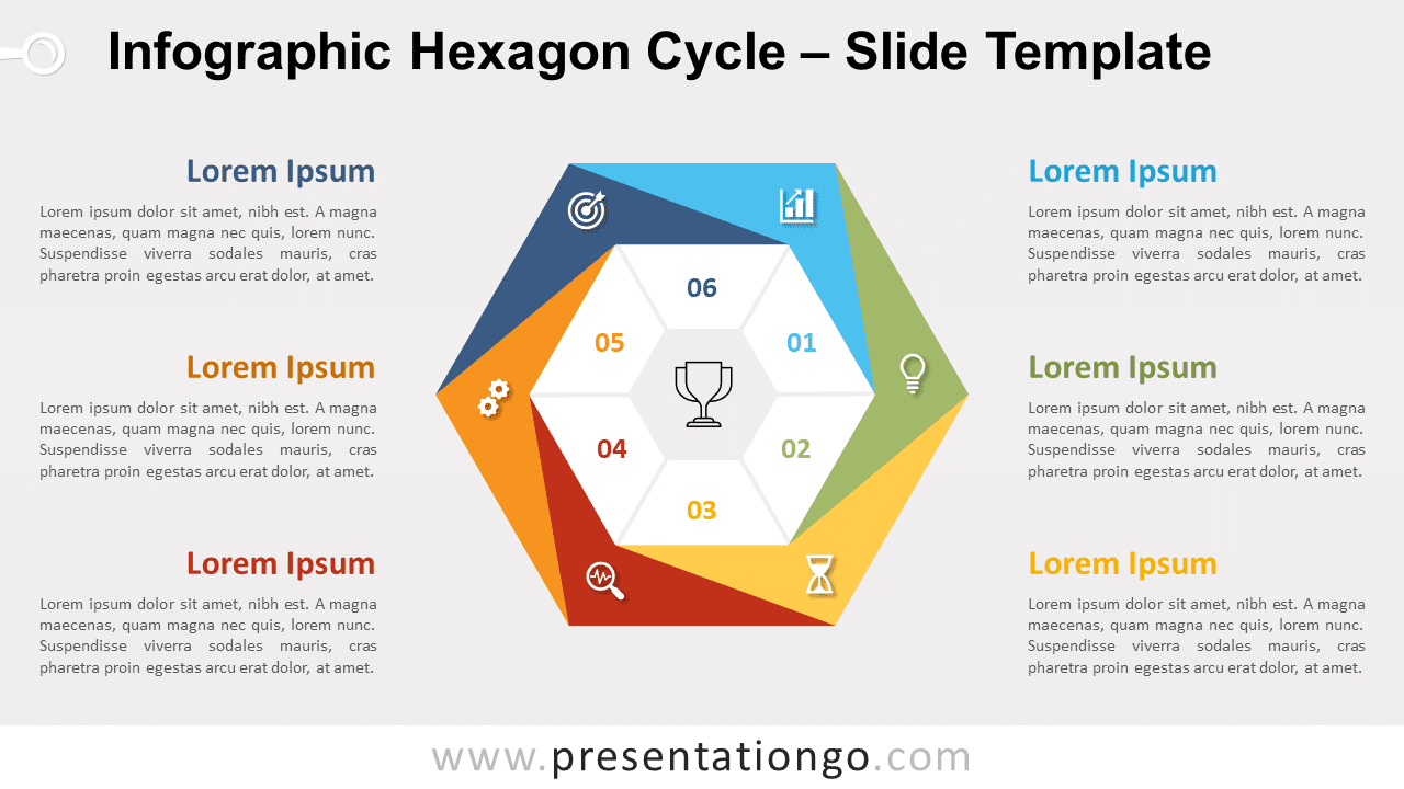 Free Infographic Hexagon Cycle for PowerPoint and Google Slides