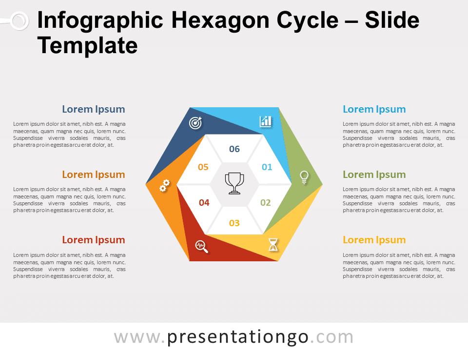 Free Infographic Hexagon Cycle for PowerPoint