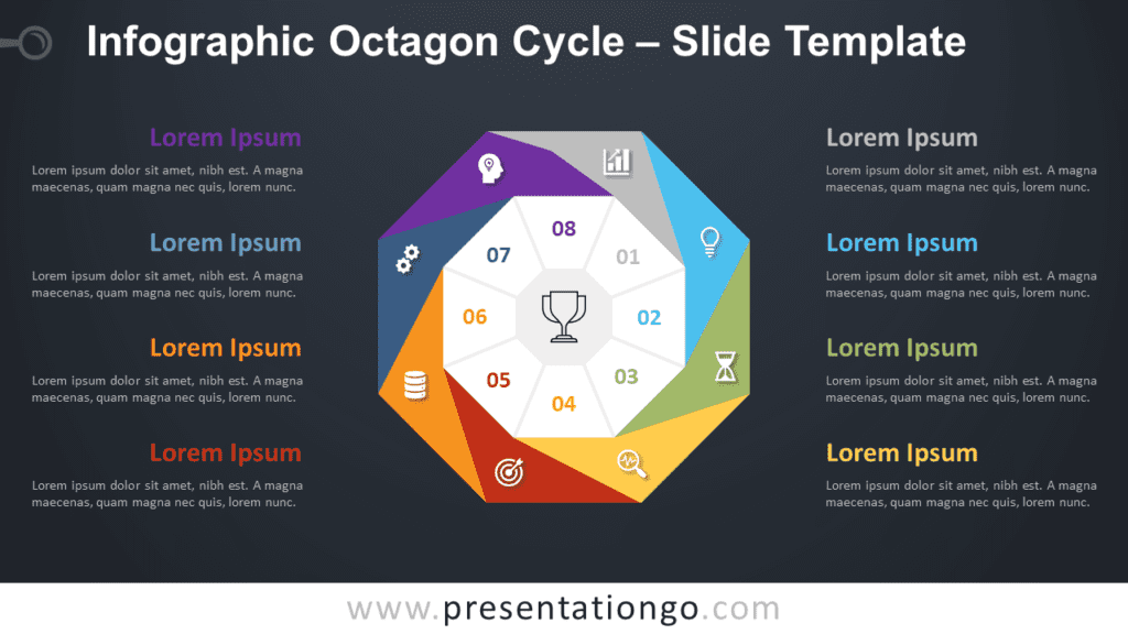 Free Infographic Octagon Cycle Diagram for PowerPoint and Google Slides