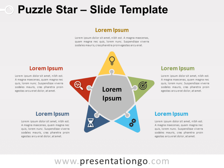 Free Puzzle Star for PowerPoint