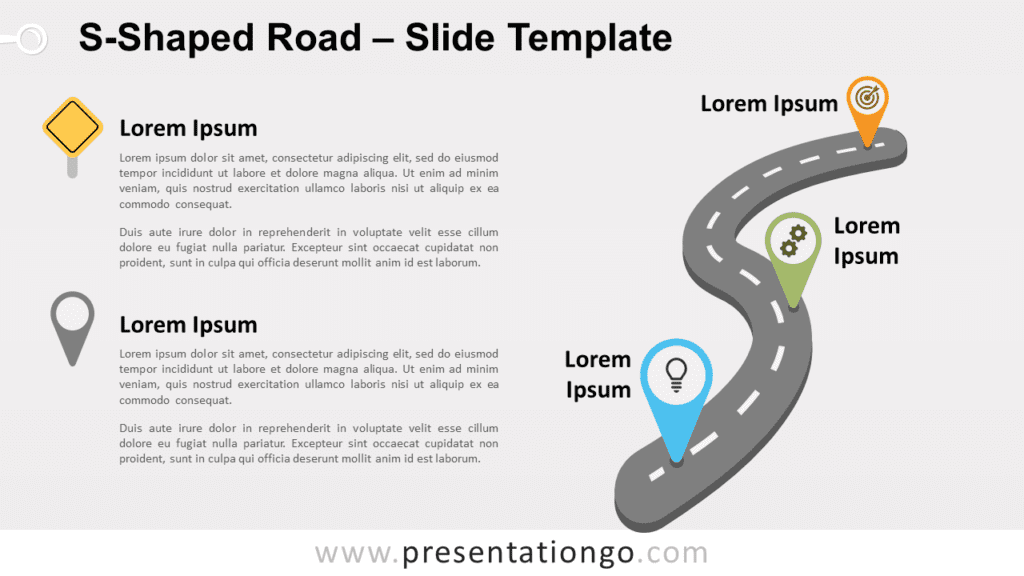 Free S-Shaped Road for PowerPoint and Google Slides