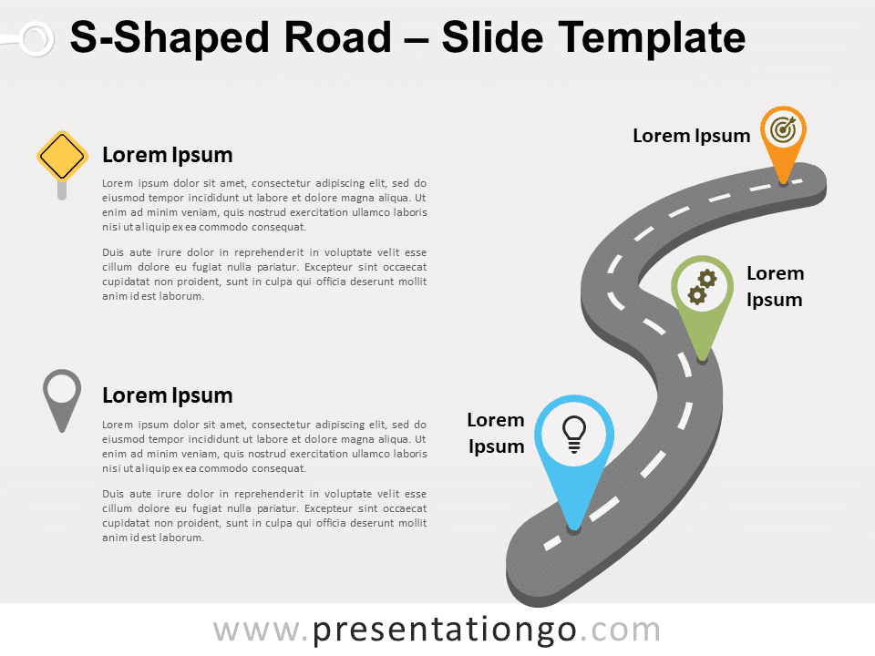 Free S-Shaped Road for PowerPoint