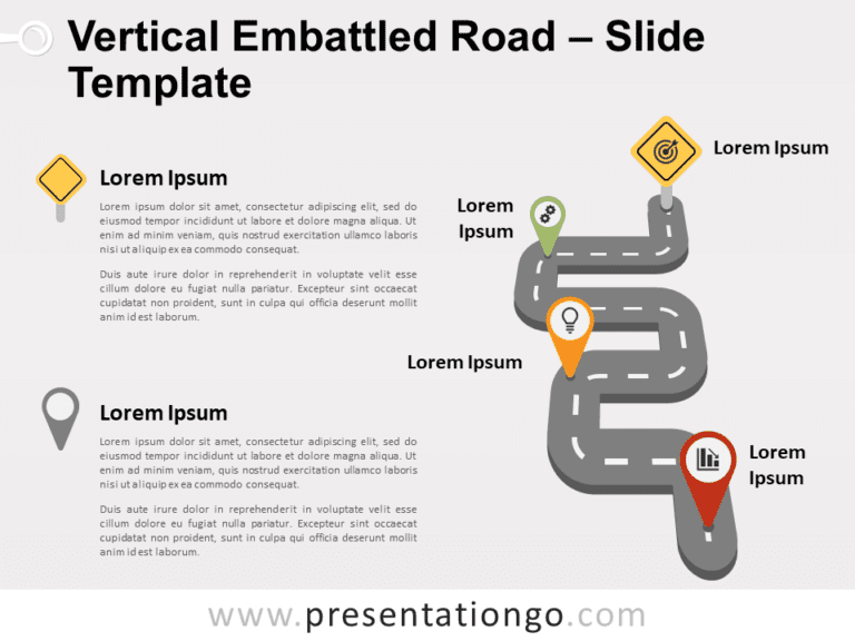 Free Vertical Embattled Road for PowerPoint