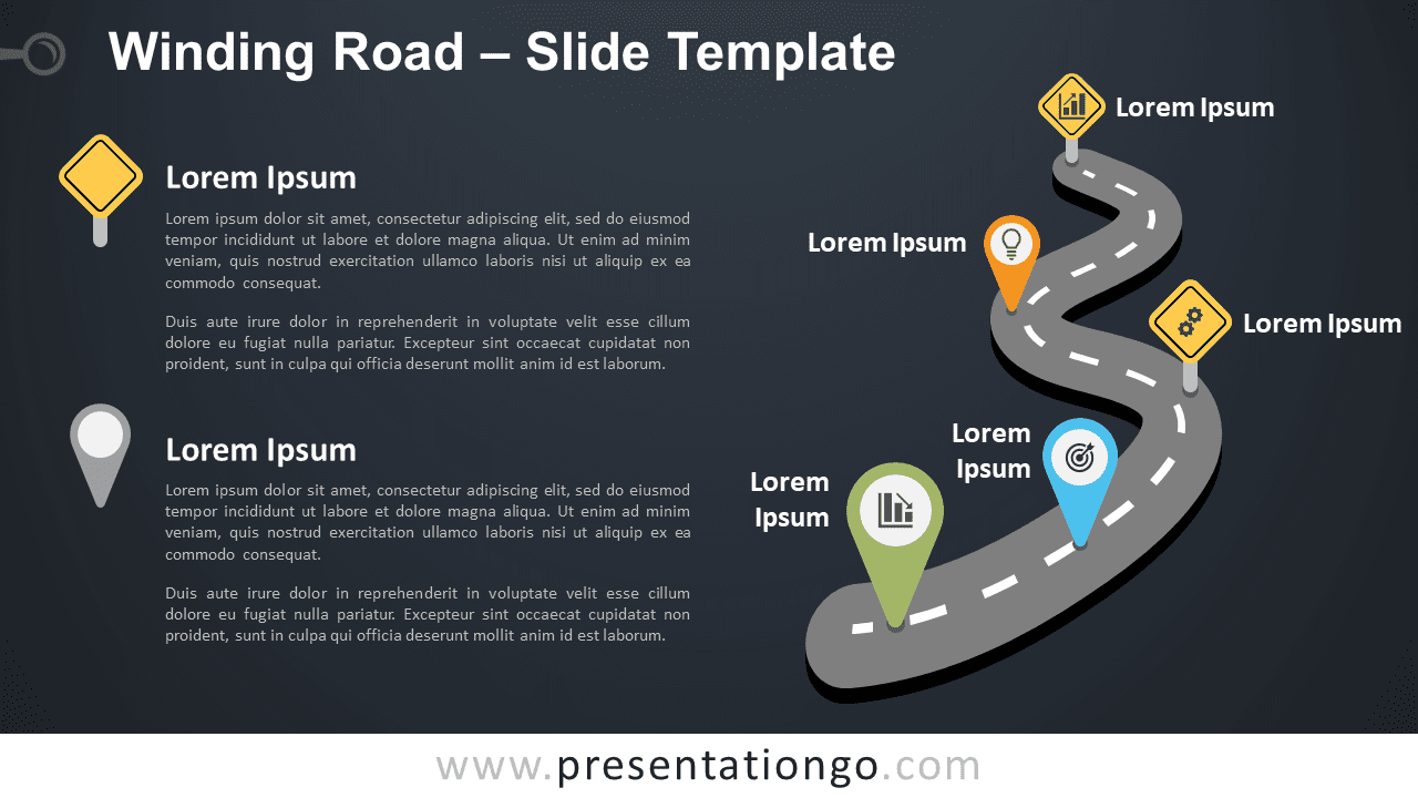 Free Winding Road Graphics for PowerPoint and Google Slides