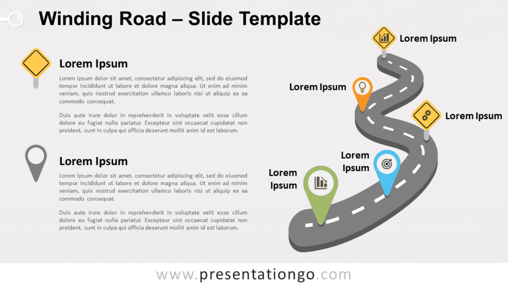 Free Winding Road for PowerPoint and Google Slides