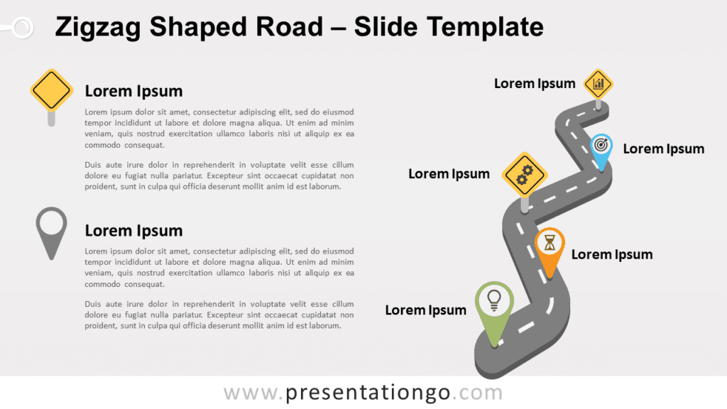 Free Zigzag Road for PowerPoint and Google Slides