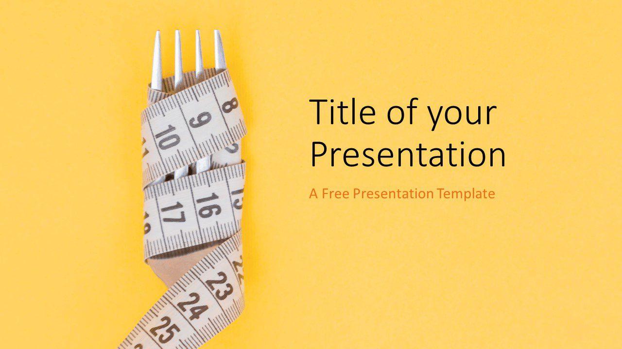 Free Diet Template for Google Slides - Cover Slide