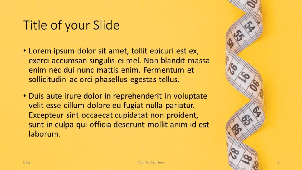 Free Diet Template for Google Slides – Title and Content Slide (Variant 1)