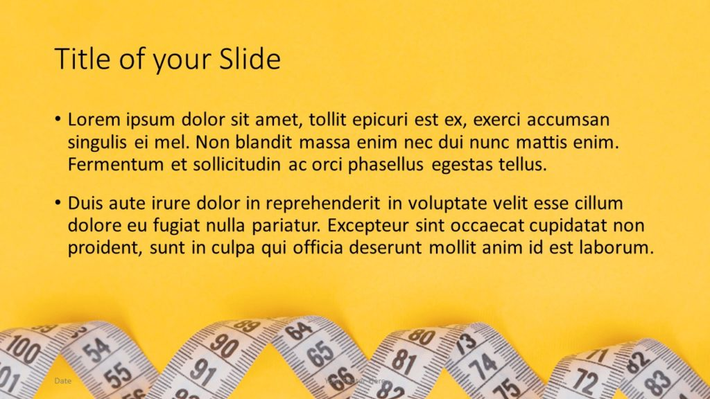 Free Diet Template for Google Slides – Title and Content Slide (Variant 2)