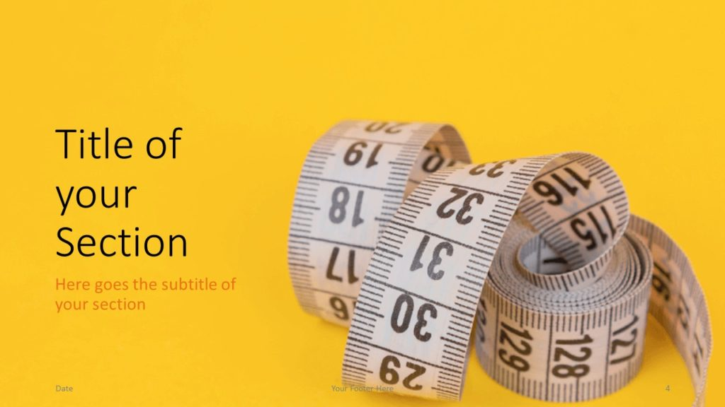 Free Diet Template for Google Slides – Section Slide (Variant 1)