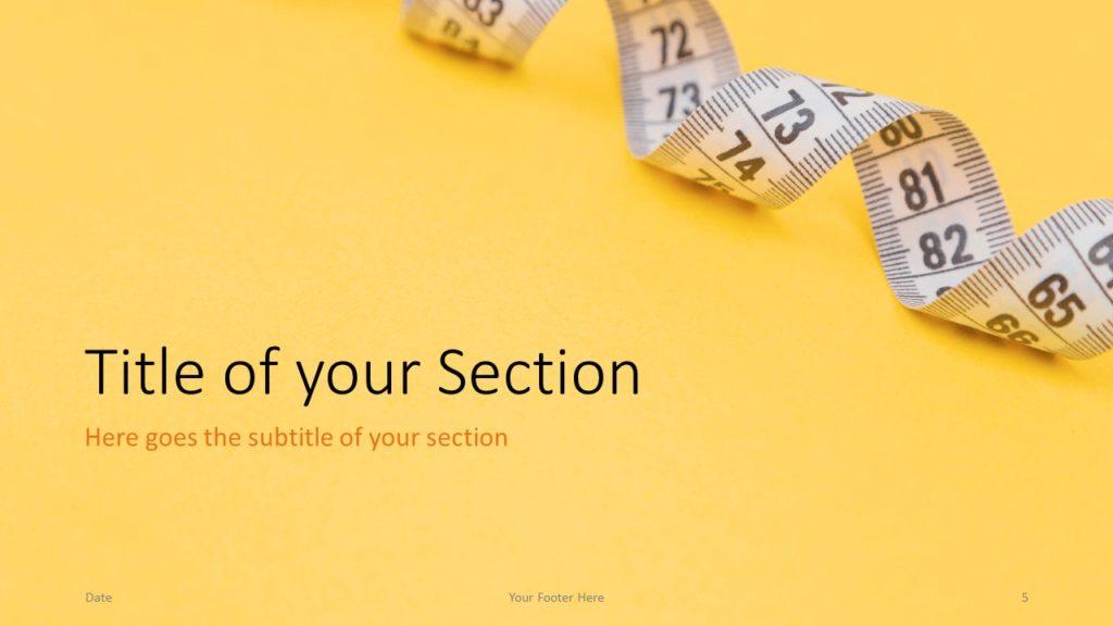 Free Diet Template for Google Slides – Section Slide (Variant 2)