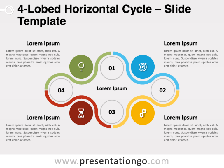 Free 4-Lobed Horizontal Cycle for PowerPoint