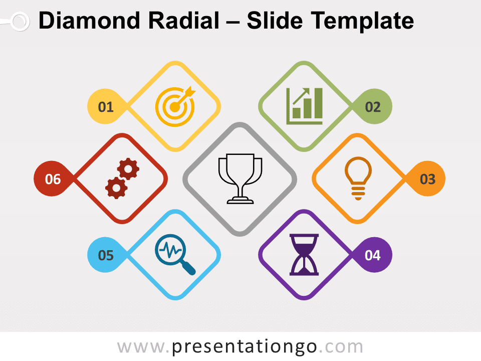 Free Diamond Radial for PowerPoint