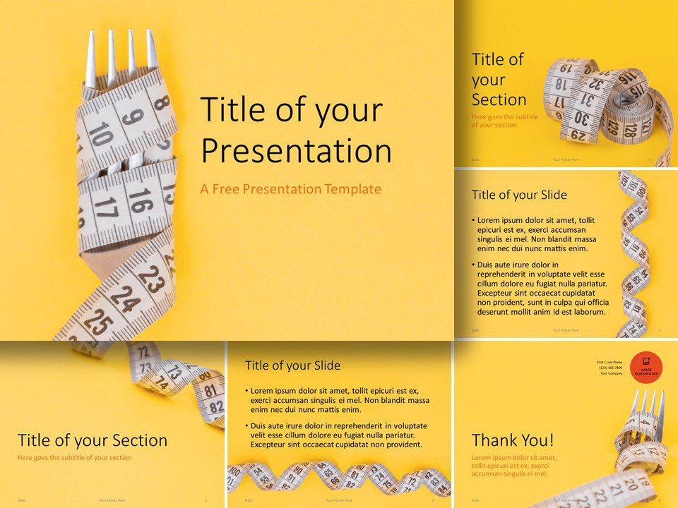 Free Diet Template for PowerPoint and Google Slides