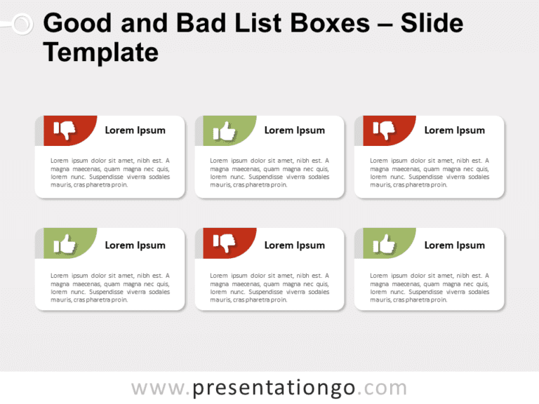 Free Good and Bad List Boxes for PowerPoint