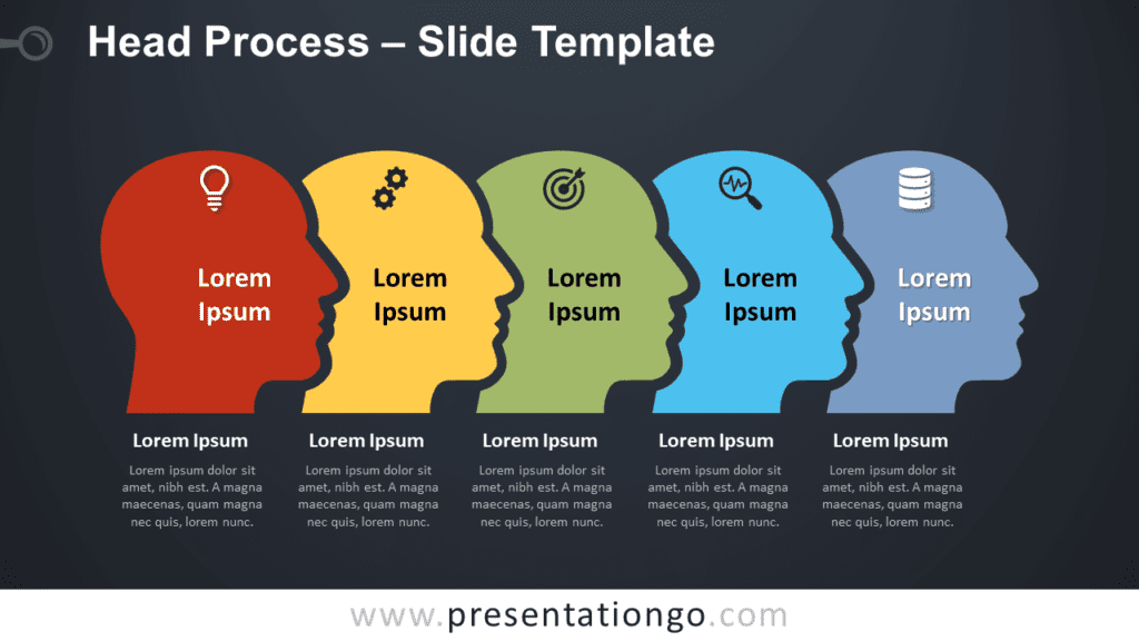 Free Head Process Graphic for PowerPoint and Google Slides
