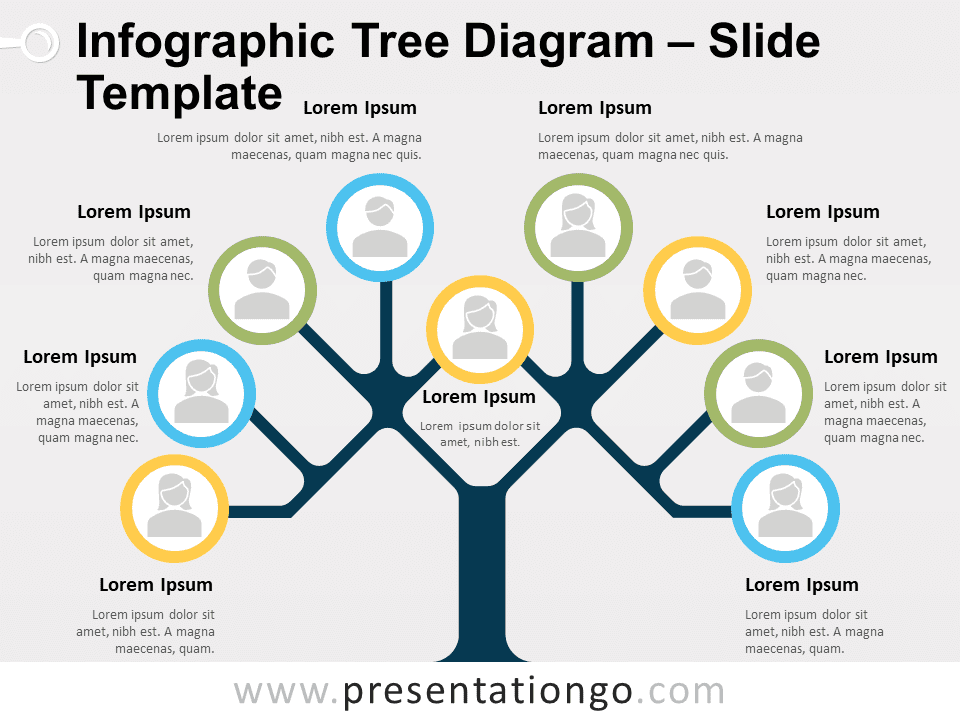 Free Infographic Tree Diagram Template for PowerPoint