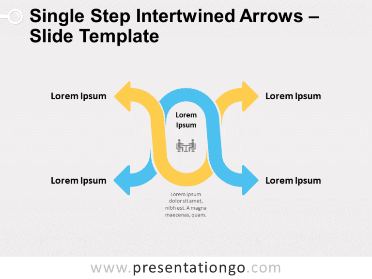 Free Intertwined Arrows for PowerPoint