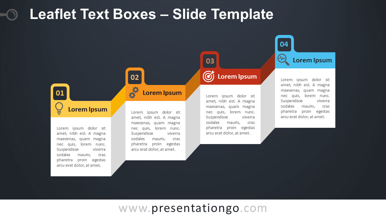 Free Leaflet Text Boxes Graphic for PowerPoint and Google Slides