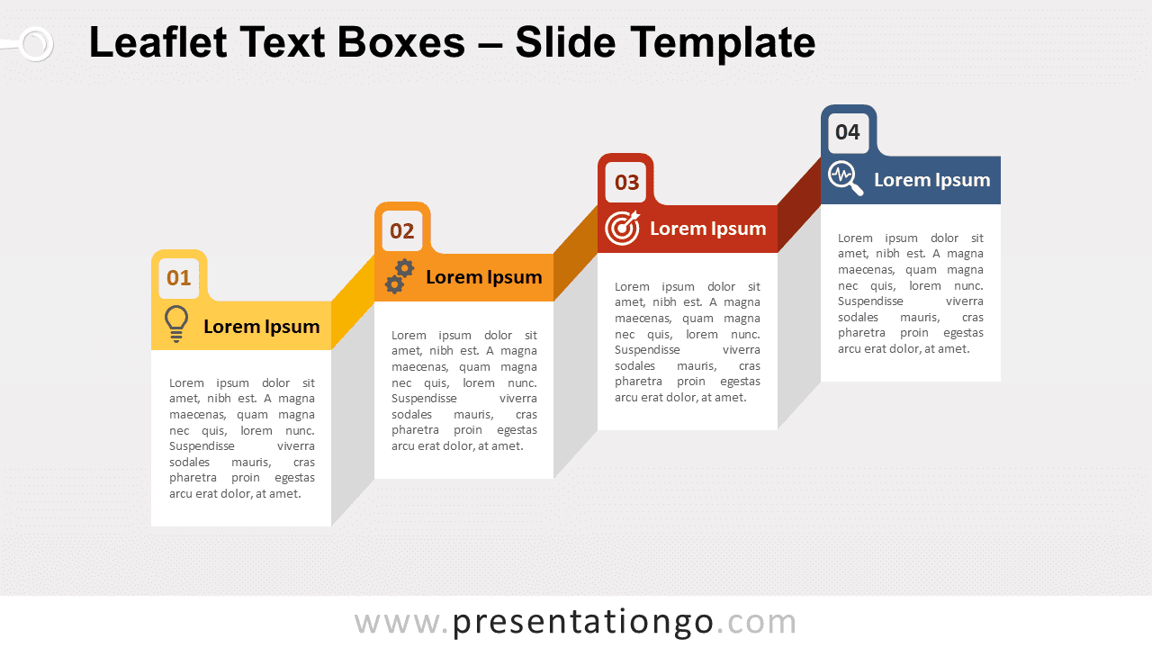 Free Leaflet Text Boxes for PowerPoint and Google Slides