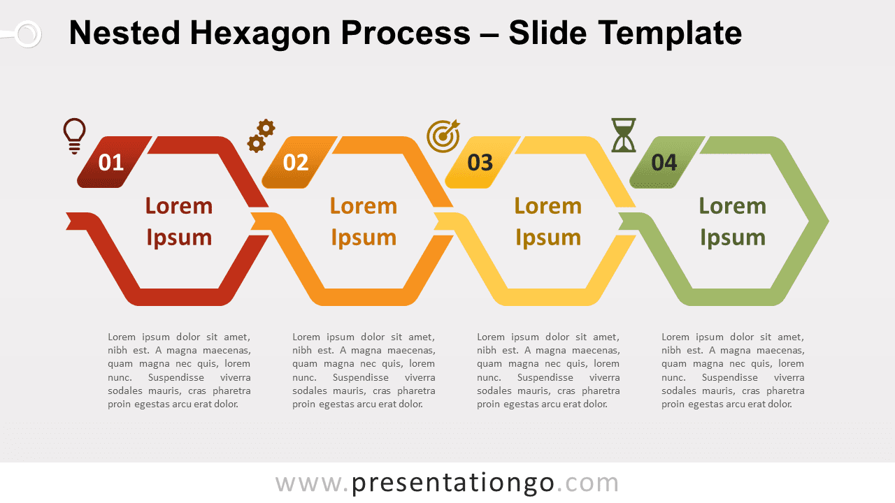 Free Nested Hexagon Process for PowerPoint and Google Slides