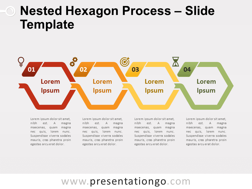 Free Nested Hexagon Process for PowerPoint