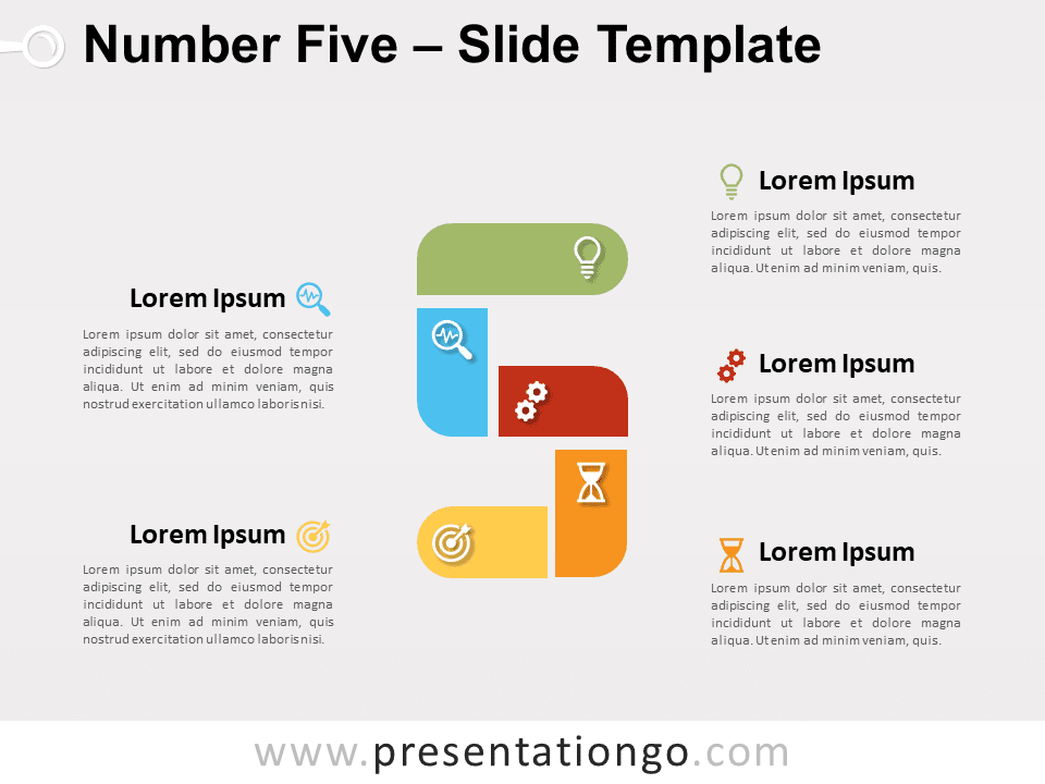 Free Number Five for PowerPoint