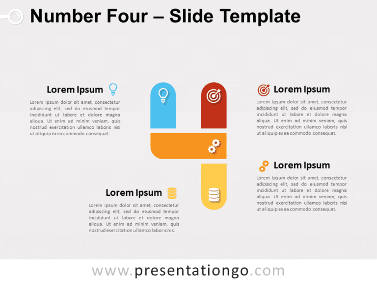 Free Number Four for PowerPoint