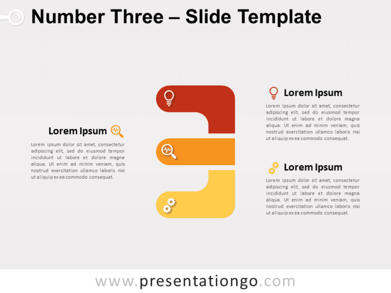 Free Number Three for PowerPoint