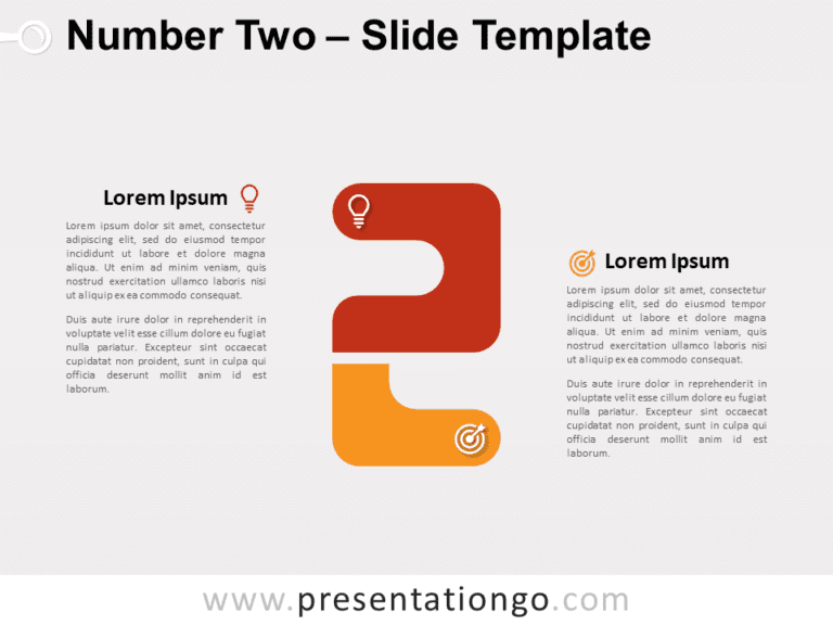 Free Number Two for PowerPoint