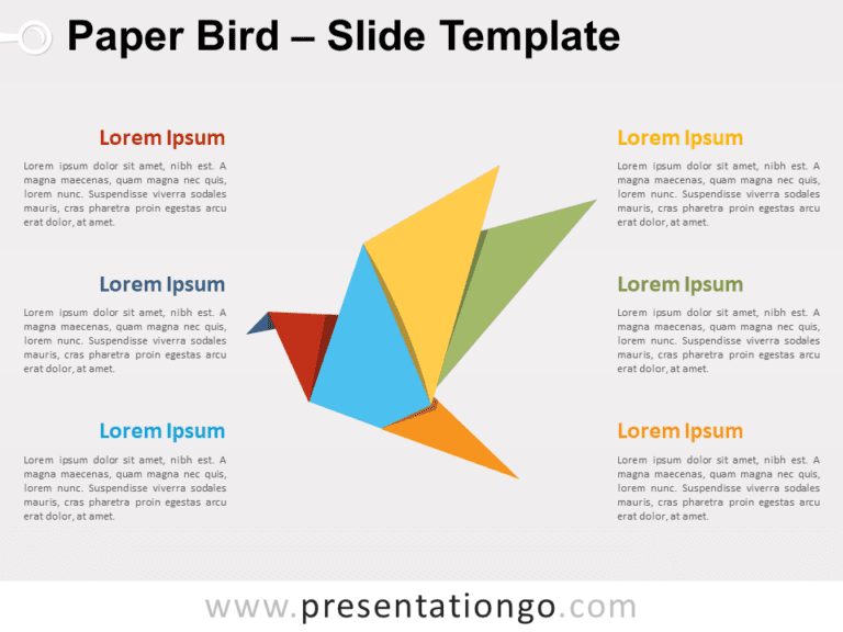 Free Paper Bird for PowerPoint