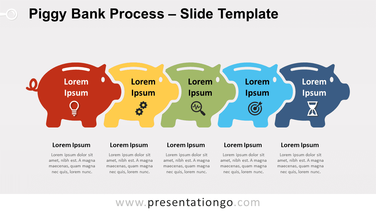 Free Piggy Bank Process for PowerPoint and Google Slides