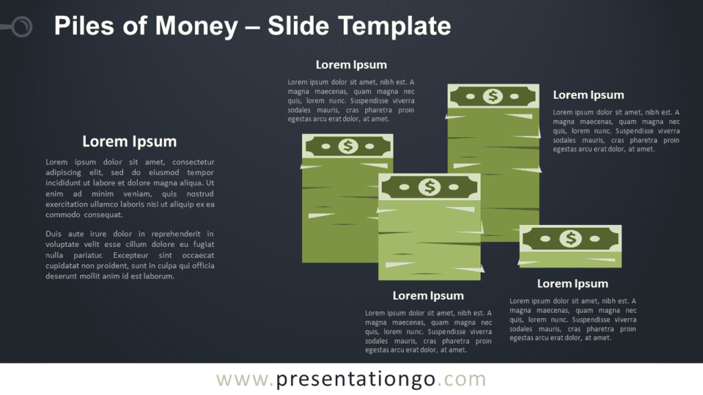 Free Piles of Money Graphic for PowerPoint and Google Slides