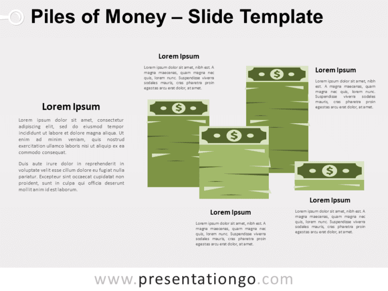 Free Piles of Money for PowerPoint