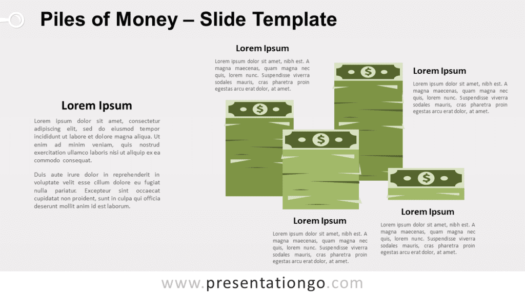 Free Piles of Money for PowerPoint and Google Slides