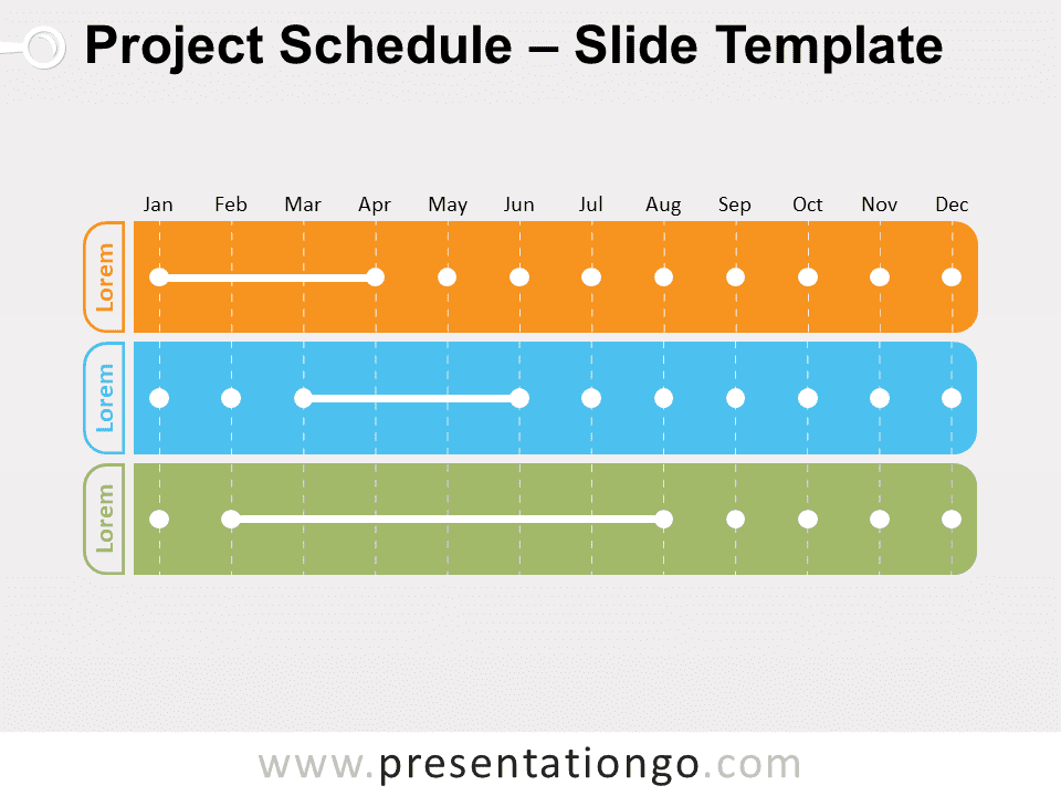 Free Project Schedule for PowerPoint
