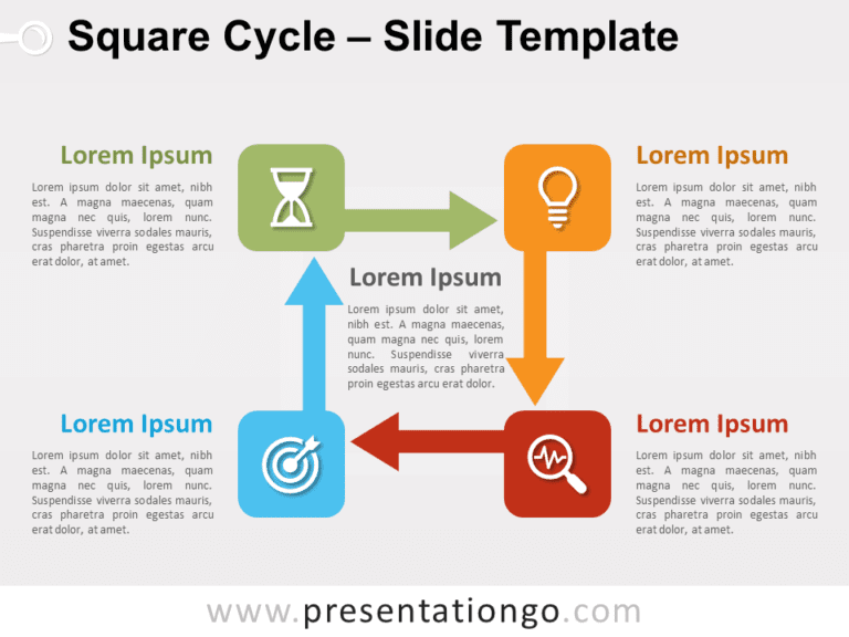Free Square Cycle for PowerPoint