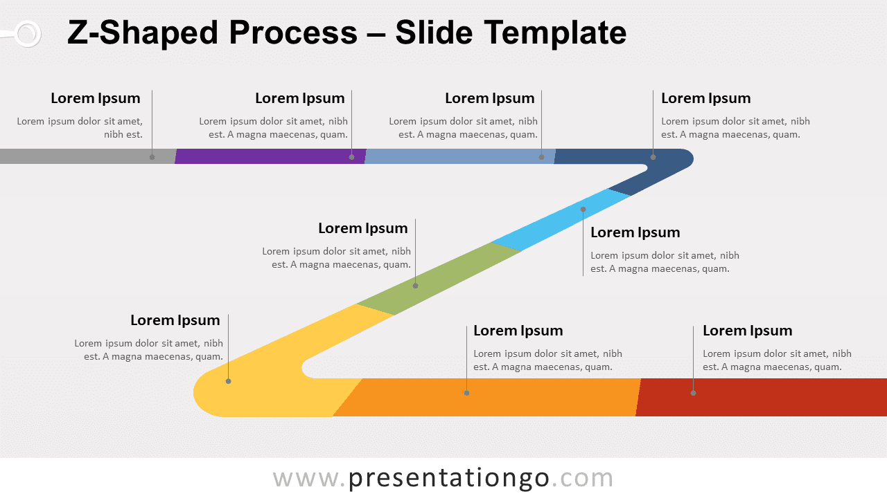 Free Z-Shaped Process for PowerPoint and Google Slides