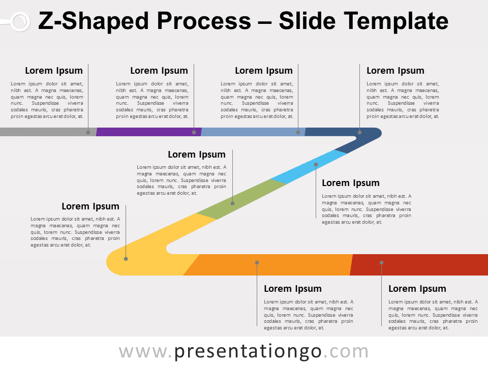 Free Z-Shaped Process for PowerPoint