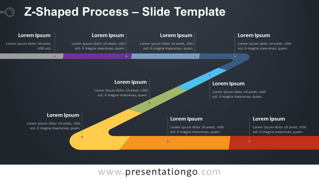 Free Z-Shaped Process Timeline for PowerPoint and Google Slides